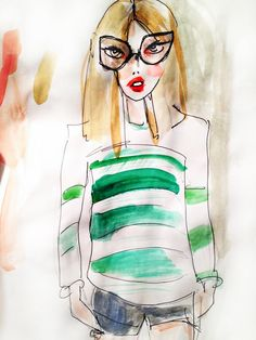 st. patrick's day inspired fashion illustration
