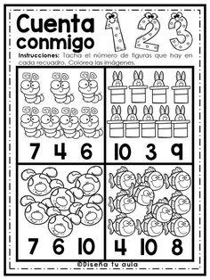 Maravillosa actividad cuenta conmigo para preescolar y primer grado de primaria | Material Educativo