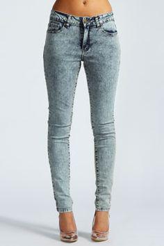 Monica Acid Wash Super Skinny Jeans at boohoo.com