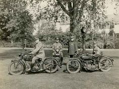 Members of the Morristown Police Motorcycle Squad pose with their vehicles on the lawn of the Vail Municipal Building on South Street in this photo by Frederick Curtiss from June 4, 1926. (Courtesy of the Morristown and Morris Township Library)