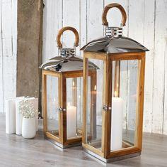 These beautiful teak wood 'Hope Cove' lanterns have a classic yet unique style zazahomes.co.uk