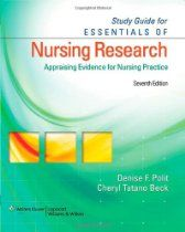 Study Guide for Essentials of Nursing Research: Appraising Evidence for Nursing Practice
