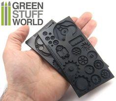 PACK x2 Steampunk Gummi Texturplatten flexible von GreenStuffWorld