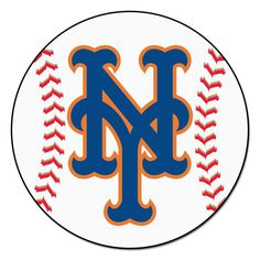 FANMATS MLB New York Mets White 2 ft. x 2 ft. Round Area Rug