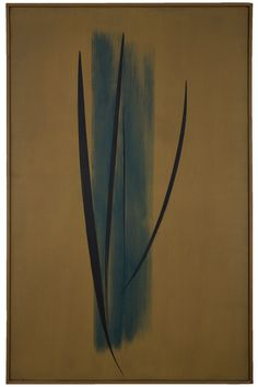 Bechtler Museum of Modern Art - Collection - Mid-century Modernism - Mid-century Modernism - Hans Hartung  T-1956-22, 1956  Oil on canvas 64 7/8 in x 41 7/8 in x 1 3/8 in