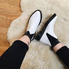 The Bianca boot in white smooth leather. Shared by downintexaco.