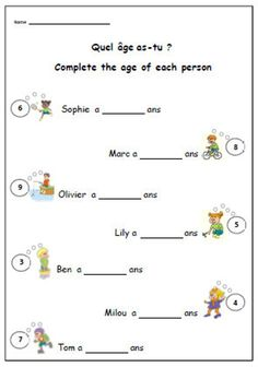 French Worksheets for Kids. 20 French Worksheets for Kids. French Worksheets, Worksheets For Kids, Printable Worksheets, Free Printables, French Classroom, Primary Classroom, French Teacher, Teaching French, How To Speak French