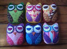 Create Your Own HOOT Eco Felt OWL Plush Toy Custom by HappyFelties, $18.00