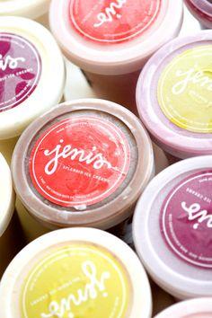 Jeni's Splendid Ice Creams. Branding and packaging design.