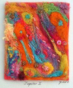 Needle felted textile art