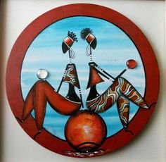Canvas Art Projects, African Art Paintings, Haitian Art, Indian Folk Art, Art Africain, Africa Art, Rustic Art, African American Art, Traditional Paintings