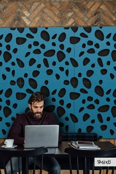 Add a bit of warmth to your café, home office or workplace with our cool blue ocean & midnight decorative acoustic wall tile - Pebbles. #walltiles #walltilesdesign #acoustictiles #acousticdesign #acousticwall #interiors #interiordesign #interiordesigner #architecture #officeinteriors #interioracoustics #acousticsolutions #acousticdesign #design #officedesign #architecturedesign #officedesign #workspace #sustainableinteriors #soundabsorption #noisereduction #acousticpanels #interiorideas