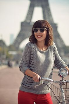 The Travelingsweater by Quiksilver Women Helloitsvalentine Tour Eiffel  Paris bicycle Fringues, Tresses, Bonjour, e16f8a0a4f1