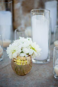 Cinderella Themed Engagement: Dahlias in Gold Mercury Vase  Planner -  @slicpins  - Wedding Photographer - @ryananddenise2 #youreventflorist #engagement