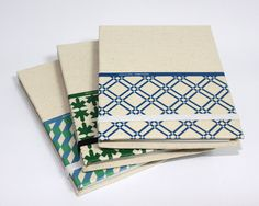 Notebook PORTUGAL. tile pattern Blue by Gasparito on Etsy