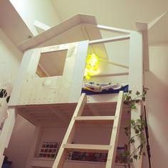 ベッド周り/IKEA/ロフトDIY/子供部屋 /板壁/SPF材…などのインテリア実例 - 2015-04-20 22:46:14 | RoomClip(ルームクリップ)