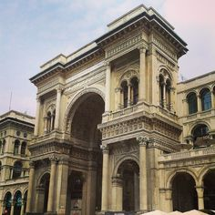 Another master piece. Built in 1877 and named after Vittorio Emanuele II, the first king of the Kingdom of Italy. Milan, Kingdom Of Italy, Building Elevation, Living In Italy, Poems Beautiful, Portal, One Kings, Barcelona Cathedral, Places To Go