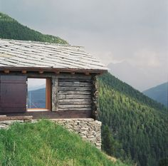 'shelter in the swiss alps' by personeni raffaele schärer architectes,  val d'herens, valais, switzerland