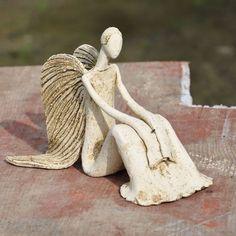 Slab Pottery, Ceramic Pottery, Pottery Art, Angel Sculpture, Sculpture Clay, Clay Angel, Pottery Angels, Cerámica Ideas, Ceramic Angels