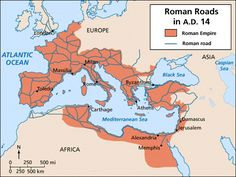 """""""All Roads Lead to Rome"""", that's what we hear all the time, but is it actually true? In reality the Romans built about 50,000 miles of roads throughout their empire, that connected Britain to the Tigris River and the Danube River to Spain and the Iberian Peninsula. These roads were mainly used for military reason to mobilize troops fast and efficiently. The first known road was called the Via Appia and stretched from Rome to the current day city of Taranto in Italy, which is about 334 miles."""