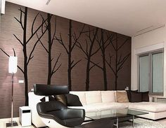 Winter Tree Wall Art Decals