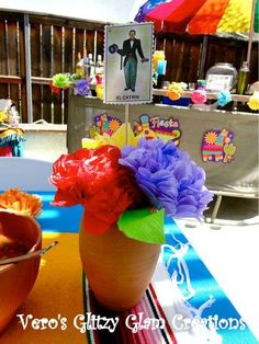 Mexican Fiesta Birthday Party Ideas & Mexican Centerpieces | The Posh Pixie: Mexican Party Table ...