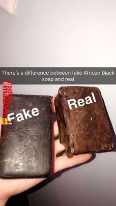 Fake: Having a black color to it, is smooth and uniformed Real: is brown-ish, is very malleable and breakable. Black soap is antibacterial and helps to fight acne, it reduces inflammation and skin irritations. *Remember everyones skin is different* Beauty Care, Beauty Skin, Beauty Hacks, Face Beauty, Peel Off Maske, Dry Skincare, Skincare Routine, Piel Natural, African Black Soap