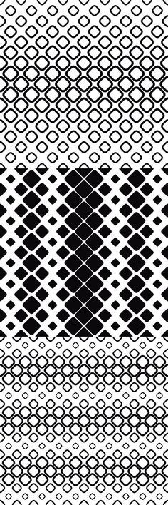99 monochrome vector square pattern designs