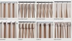 types of curtains and draperies types of curtains and draperies Drapery Styles, Custom Drapes, Curtains Living Room, Types Of Curtains, Curtains Bedroom, Curtains, Curtains And Draperies, Curtain Styles, Curtain Decor