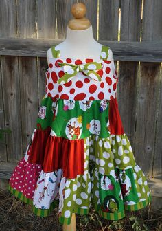Grinch Twirl Dress by fluffygirlboutique on Etsy, $55.99