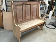 Rustic bench made from old door