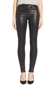 Citizens of Humanity 'Rocket' High Rise Skinny Jeans (Leatherette Black) available at #Nordstrom