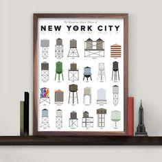 NYC Water Towers Print