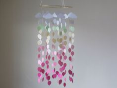 Balloons and Clouds mobile. Baby Nursery mobile by KraftynKatchy