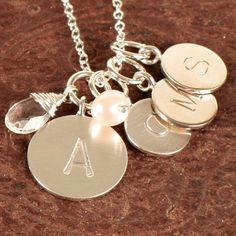 Our Boutique - Sweet Magnolia Gifts and Flowers Glenside Pennsylvania Monogram Jewelry, Monogram Necklace, Sweet Magnolia, Lotus Jewelry, Sterling Necklaces, Ladies Fashion, Womens Fashion, Washer Necklace, Initials