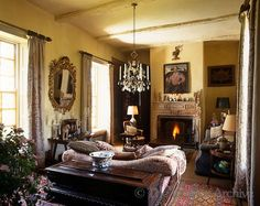 charming room in South Dorset Manor ~ Robert Kime design