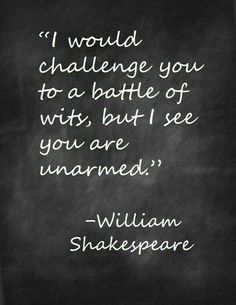 Haha, I think this all the time! Shakespeare, a master of the English language.