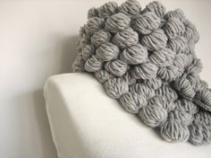 oooh. cool! crocheted bubble scarf