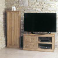 baumhaus mobel oak 4 drawer coffee table cor09a