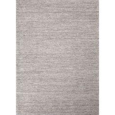Jaipur Rugs Handloom Solid Pattern Gray/Ivory Wool Area Rug EL01 (Rectangle)