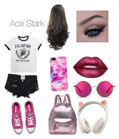 """""""Ace Stark"""" by carrollgabriel on Polyvore featuring Converse, Casetify, Matthew Williamson and Lime Crime"""