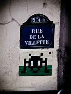 Adele: Space Invader strikes again!  Paris. By NikitaDB. June 2012.