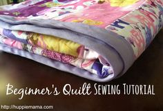 Beginner's Quilt Sewing Tutorial - Our Potluck Family Quilting For Beginners, Quilting Tips, Quilting Tutorials, Quilting Projects, Sewing Tutorials, Beginner Quilting, Tutorial Sewing, Sewing Ideas, Sewing Machine Projects