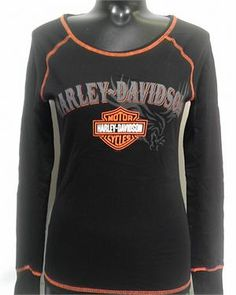 San Diego Harley-Davidson® Women's Windswept Long Sleeve T-Shirt Haley Davidson, Davidson Bike, Harley Davidson Motorcycles, Female Motorcycle Riders, Motorcycle Outfit, Clothing Boutiques, Boutique Clothing, Harley Davidson Merchandise, Harley Gear