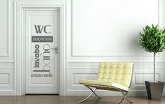 Vinilos Decorativos Texto Puerta Baño.