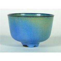 Gertrud & Otto Natzler Glazed ceramic footed bowl