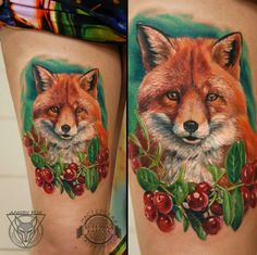 Tatyana Kirpichova В Казани #inkbe, #tattoo, #realism, #fox