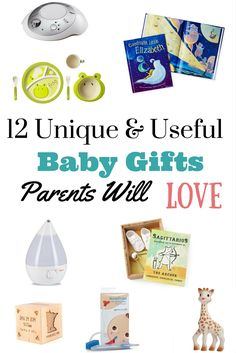 These 12 unique and useful baby gifts are gifts that moms and dads will truly love and actually use, all the time. | Baby Gifts |Unique baby gifts |Baby shower |eco-friendly baby
