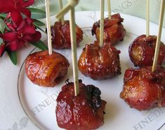 Appetizers, Parties food and Bacon wrapped on Pinterest