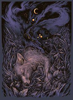 Stardust by Marta Sokołowska #illustration #night #drawing
